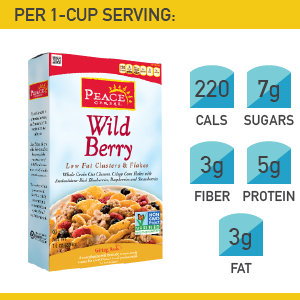 18. Peace Cereal Wild Berry