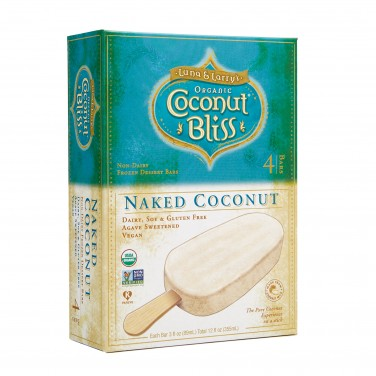 Luna and Larry's Organic Coconut Bliss Naked Coconut Non-Dairy Frozen Dessert Bars