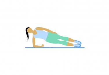 Illustration of a woman doing a side plank