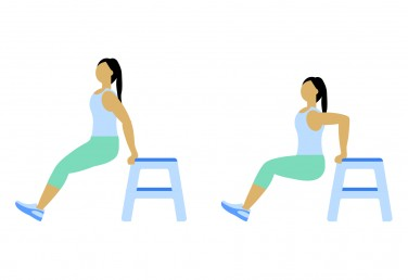 7 Minute Workout: Triceps Dip