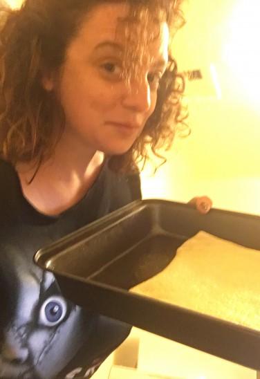 Sara made unexpected cinnamon bread