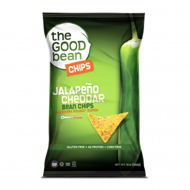 The Good Bean Bean Chips Jalapeño Cheddar