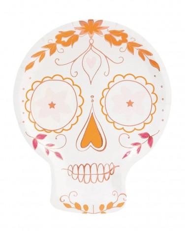 Sugar skull plate