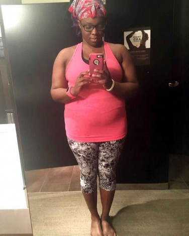 Bathroom selfie at the yoga studio
