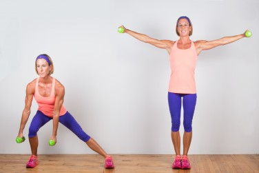 3A. Lateral Lunge to Lateral Raise