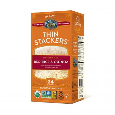 Lundberg Organic Thin Stackers Red Rice and Quinoa