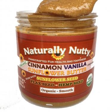 Naturally Nutty Organic Cinnamon Vanilla Sunflower Butter