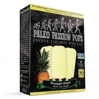 Paleo Passion Pop Pineapple Ginger With Chia Seeds