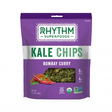 Rhythm Superfoods Kale Chips Bombay Curry