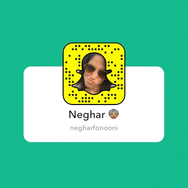 SnapChats to Follow: Neghar Fonooni