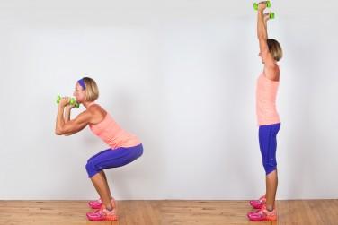 1A. Squat to Shoulder Press