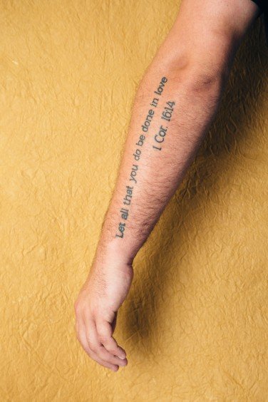 Arm Tattoo - Lettering