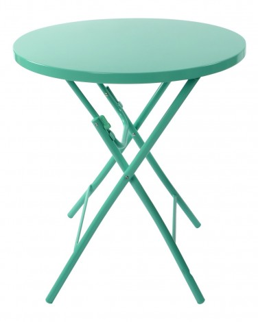 Turquoise Metal Patio Table
