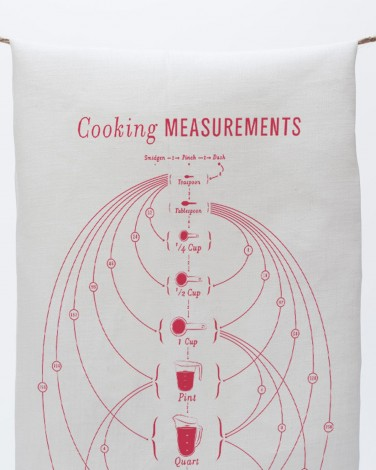 Cooking Measurement Tea Towel