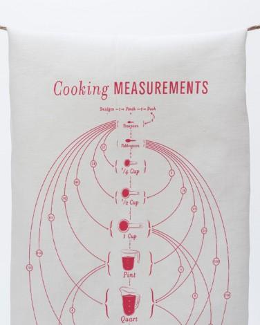Cooking Measurement Tea Towel