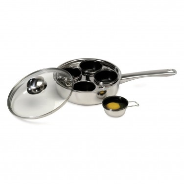 cooking tools: ExcelSteel Stainless Nonstick Four-Egg Poacher