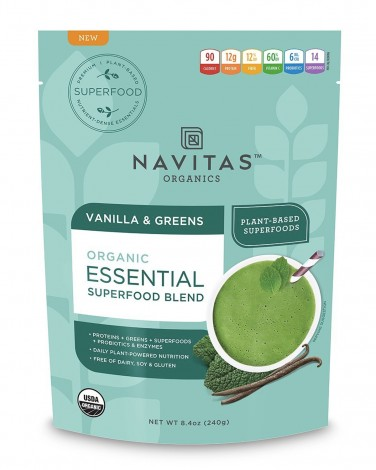 Navitas Organics Vanilla and Greens vegan protein powder