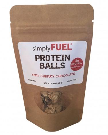 simplyFUEL tart cherry chocolate protein balls
