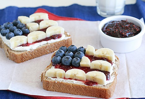 Patriotic toast that Betsy Ross would be proud of
