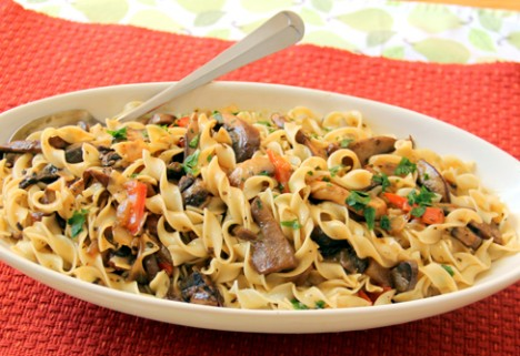 Pasta with Hearty Mushroom Sauce