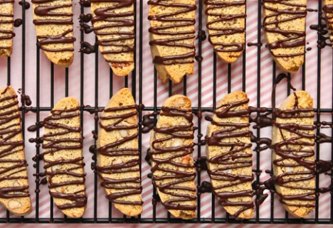 Chocolate Covered Almond Biscotti*