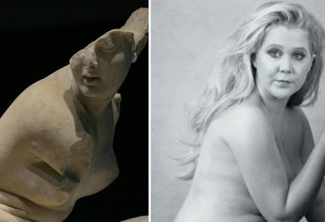 Amy Schumer Next to a Literal Greek Goddess Shows How Beauty Standards Have Changed