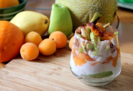 "Apricot, Apple, and Coconut ""Yogurt"" Parfait"