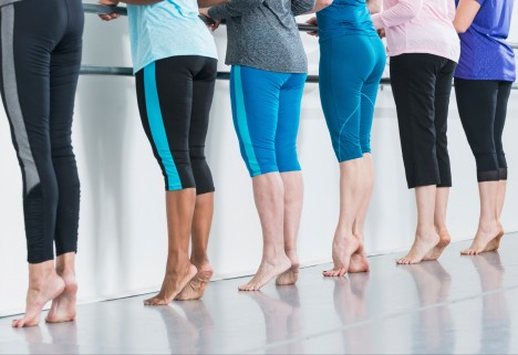 Women in Barre Workout Class