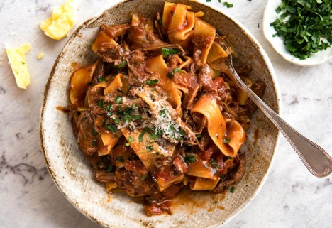 Shredded Beef Ragu Pasta