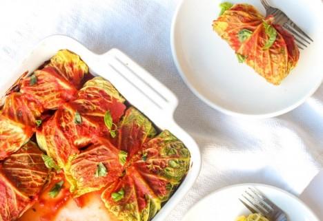 Mushroom Stuffed Cabbage Rolls Recipe
