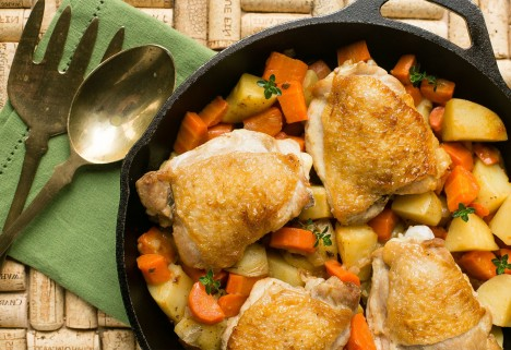 Chicken Thigh Recipes: Braised Chicken Thighs With Carrots and Potatoes