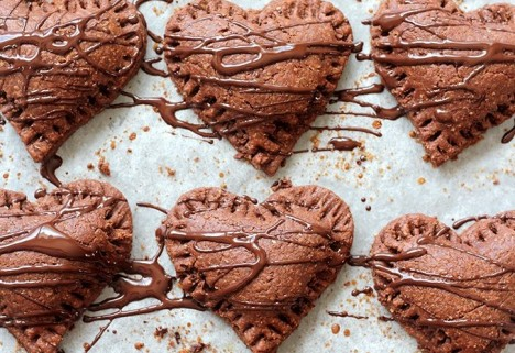 Chocolate Heart Poptarts