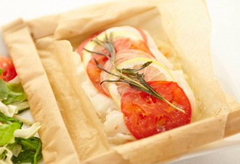 Parchment-Baked Codfish
