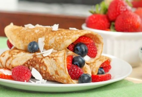 Recipe: Paleo Coconut Crepes with Mixed Berries