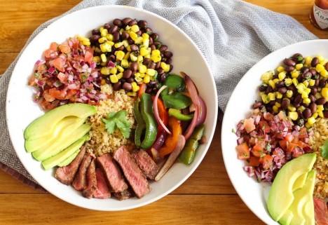 Steak and Quinoa Burrito Bowl