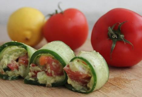 Cucumber Guacamole Rolls