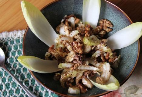 Walnut and Feta Endive Salad With Honey Balsamic Vinaigrette