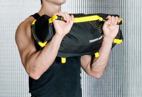 compound exercises with a sandbag