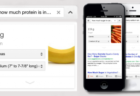 Google Your Food: Nutritional Information Now in Search