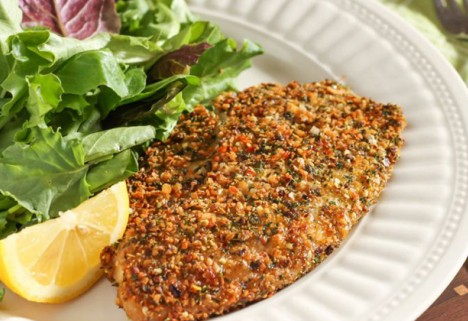 Herb and Hemp Seed Crusted Tilapia