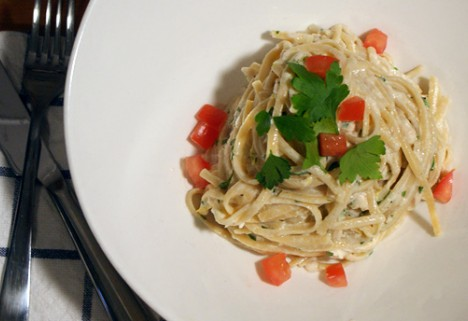 Pasta Recipe: Linguine with Greek Yogurt and Tuna Sauce