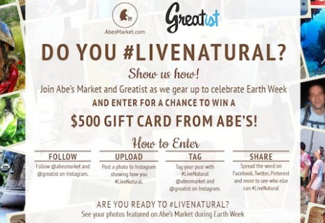 #LiveNatural with Abe's Market and Win a $500 Gift Card!