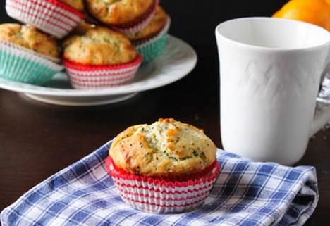 Meyer Lemon Chia Muffins*