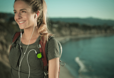 Woman Hiking Using Mighty Audio