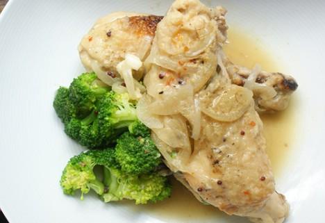 Recipe: Mustard and White Wine Braised Chicken