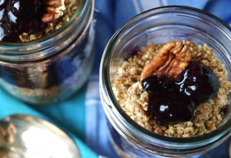 No-Bake Pecan Blueberry Cobbler