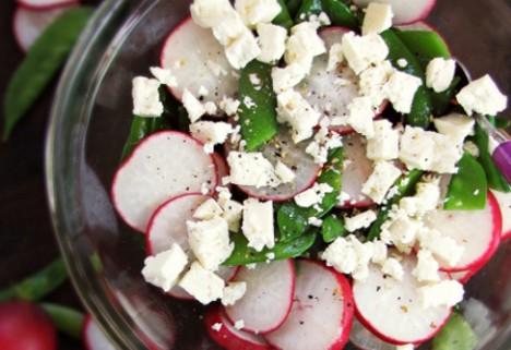 Pea and Radish Salad*