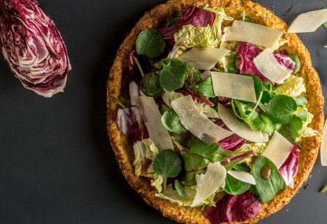 How do you make salad exciting? Turn it into pizza!