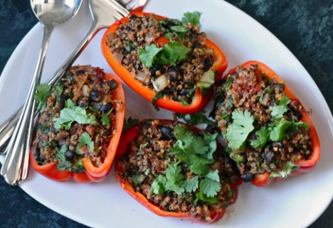 Vegan Quinoa-Stuffed Peppers