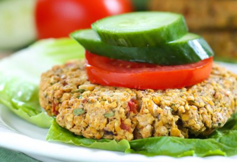 Recipe: Roasted Red Pepper Chickpea Burgers